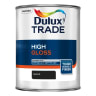 Dulux Trade High Gloss Paint 1L Black