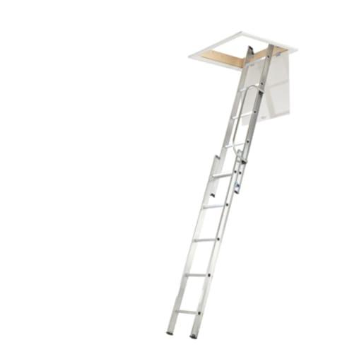 Werner Aluminium 3-Section Loft Ladder 3M x 0.38M