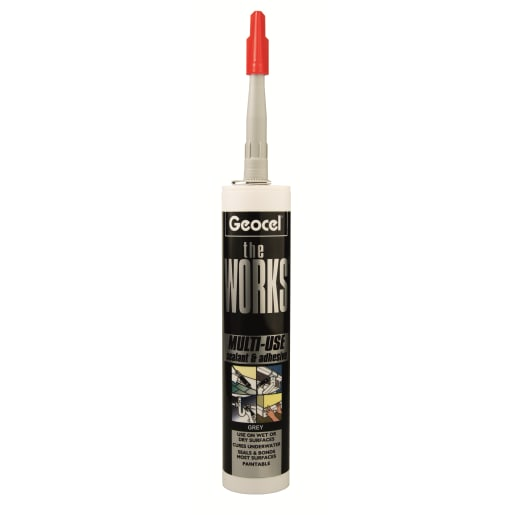 Geocel The Works Multi-Use Sealant & Adhesive 290ml Grey