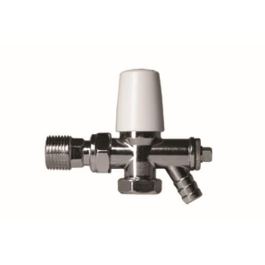 Altech Angled Manual Radiator Lockshield Valve and Drain Off 15mm