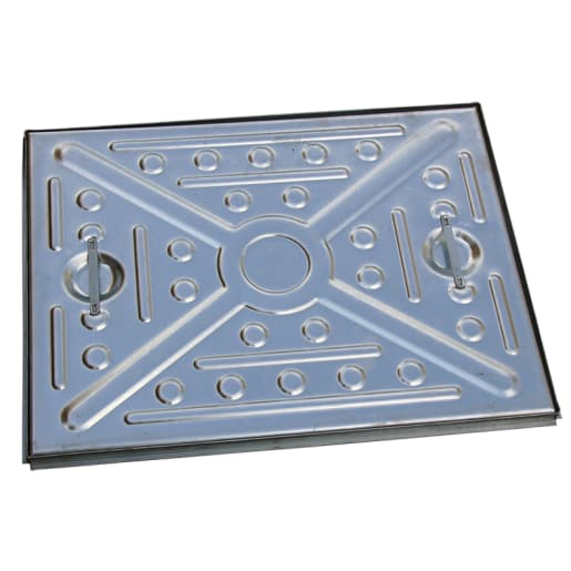 EJ Single Seal Manhole Cover and Frame 5T 600 x 450mm Galvanised