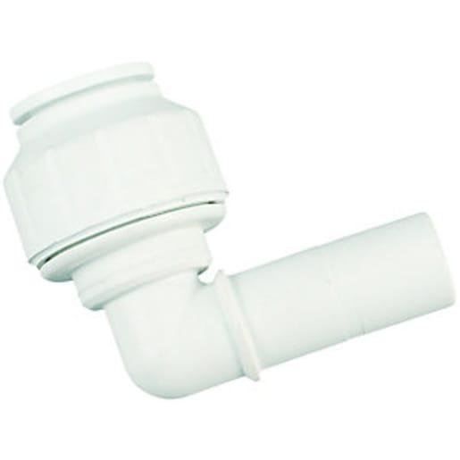 JG Speedfit Stem Elbow 15mm White