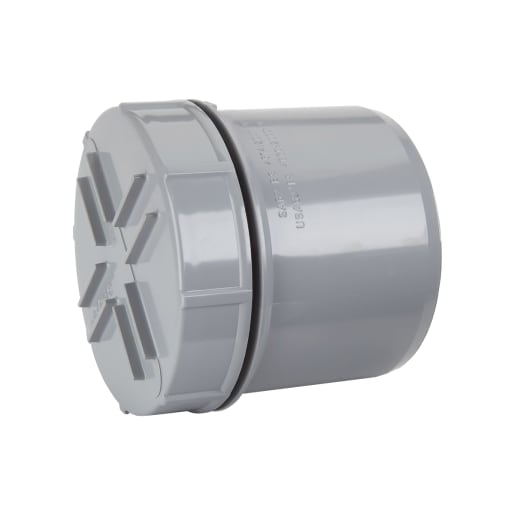 Polypipe Soil Spigot Tail Access Cap 110mm Grey