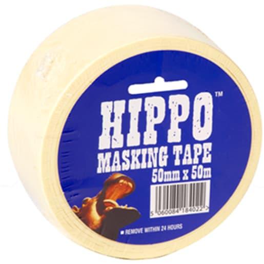 Hippo Masking Tape 50M x 25mm Beige