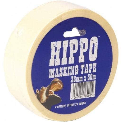 Hippo Masking Tape 50m x 38mm Beige