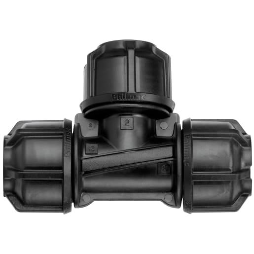 Philmac Equal Tee 25mm Black