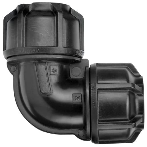 Philmac Elbow 20mm Black