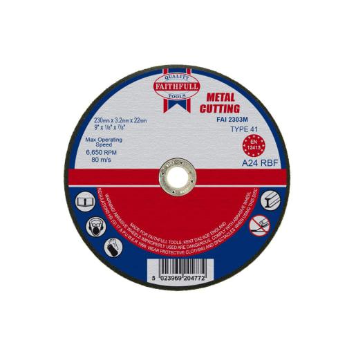 Faithfull Metal Cut Off Disc 3.2 x 230mm
