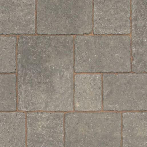 Marshalls Drivesett Tegula Block Paving 120 x 160 x 50mm Pennant Grey