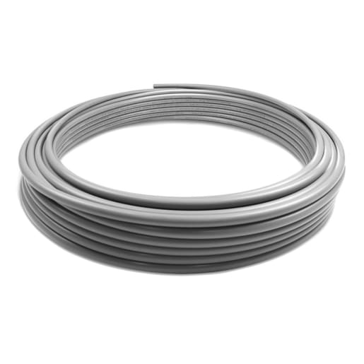 Polypipe PolyPlumb Barrier Pipe 15mm x 25m Grey