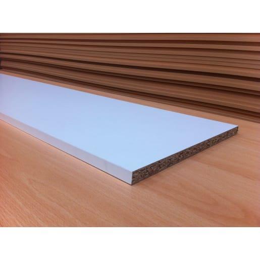 Alexander Cleghorn Melamine Faced Chipboard 2440 x 305 x 15mm White