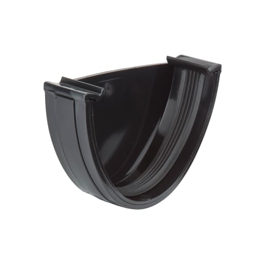 Polypipe Polyflow External Stop End 38 x 82mm Black