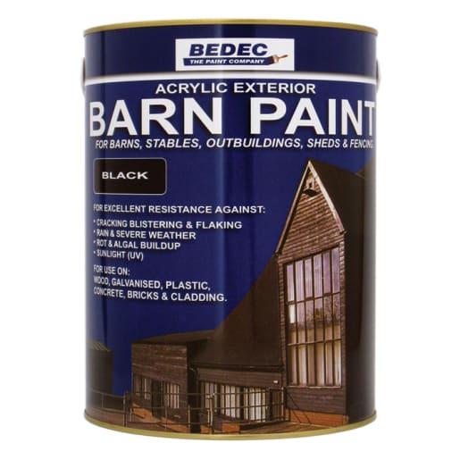 Bedec Semi Gloss Barn Paint 5L Black