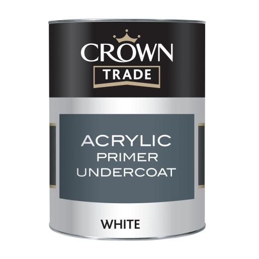 Crown Trade Acrylic Primer Undercoat 1L White