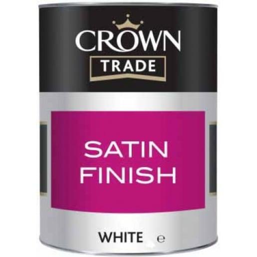 Crown Trade Satin Finish Paint 1L White