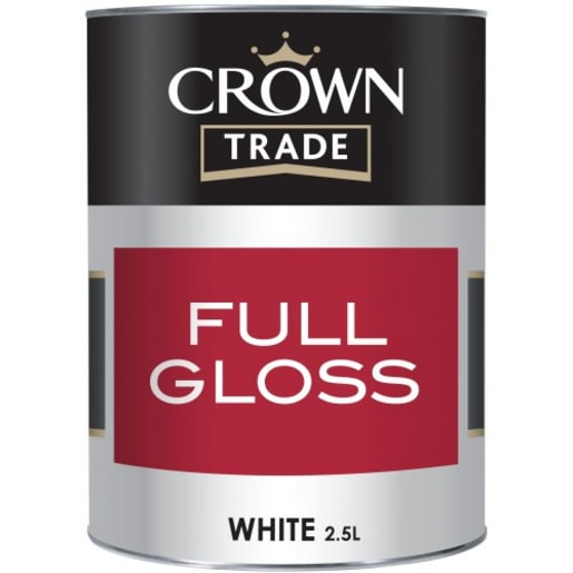 Crown Trade Full Gloss Paint 2.5L White