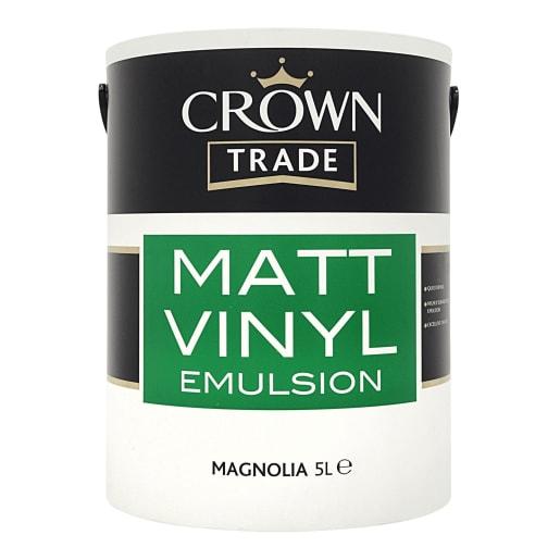 Crown Trade Matt Vinyl Emulsion Paint 5L Magnolia