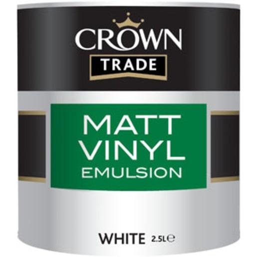 Crown Trade Matt Vinyl Emulsion Paint 2.5L White