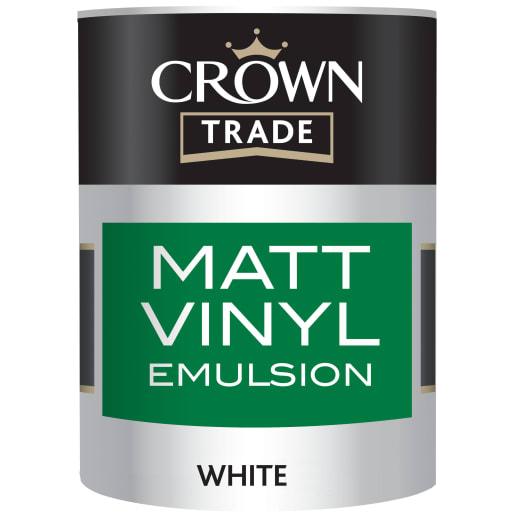 Crown Trade Premium Base Matt Vinyl Emulsion Paint 2.5L White