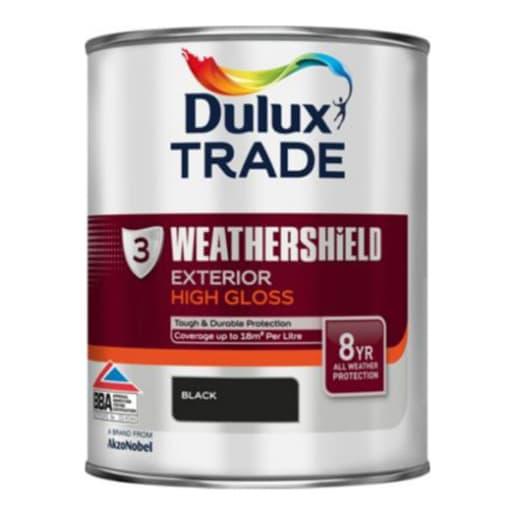 Dulux Trade Weathershield Exterior Gloss Paint 2.5L Black