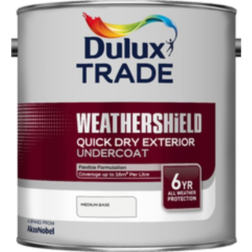 Dulux Trade Weathershield Exterior Undercoat Paint 2.5L Pure White