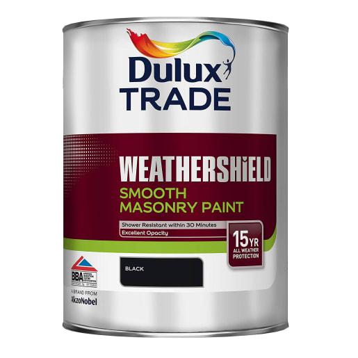 Dulux Trade Weathershield Masonry Paint 5L Black
