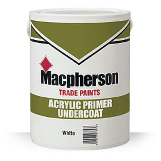 Macpherson Trade Paints Acrylic Primer Undercoat 1L White