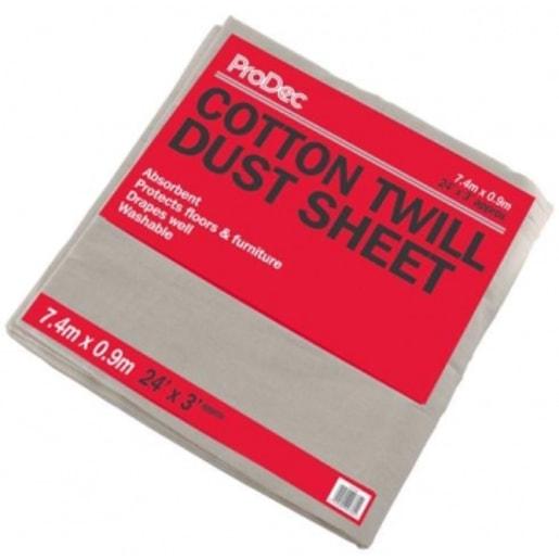 ProDec Cotton Dust Sheet 7.4 x 0.9M