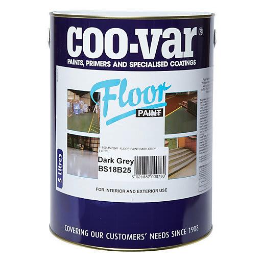 Coo-Var Floor Paint 5L Dark Grey