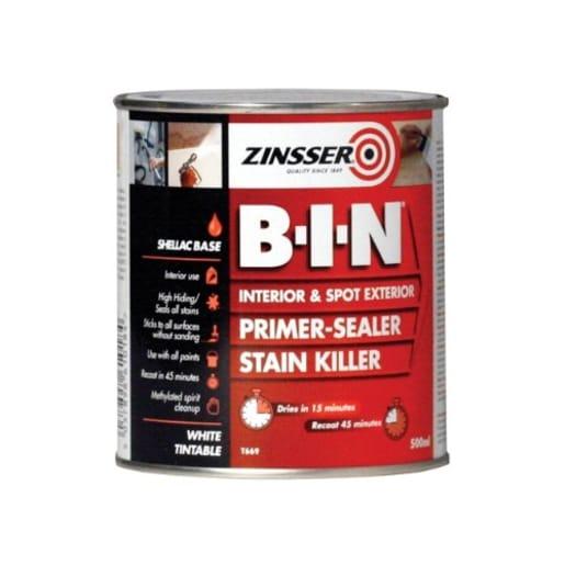 Zinsser B-I-N Primer - Sealer - Stain Killer 2.5L White
