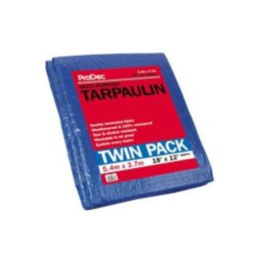 ProDec Tarpaulin Twin Pack 5.4 x 3.7m Blue
