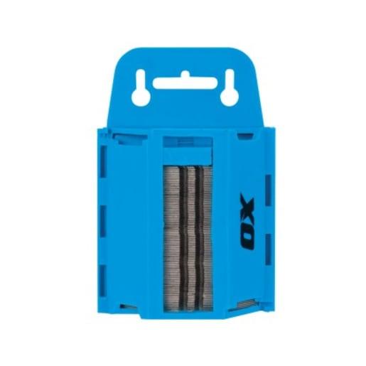 Ox Pro Heavy Duty Knife Blades & Blue Dispenser Pack of 100