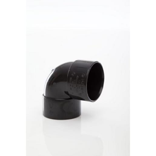 Polypipe Solvent Weld Waste 40mm Knuckle Bend 90° Black