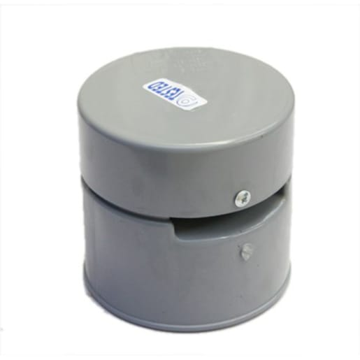 Polypipe Soil Solvent Socket Air Admittance Valve 110mm Grey
