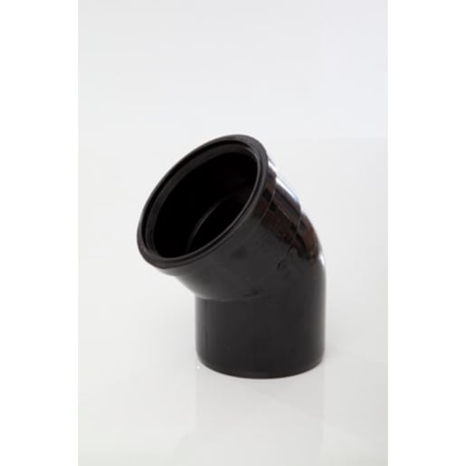 Polypipe Soil 135° Single Socket Bend 110mm Black