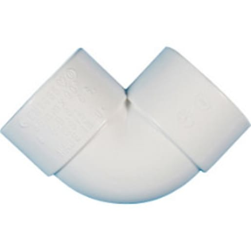 Polypipe Solvent Weld Overflow Knuckle Bend 90° White
