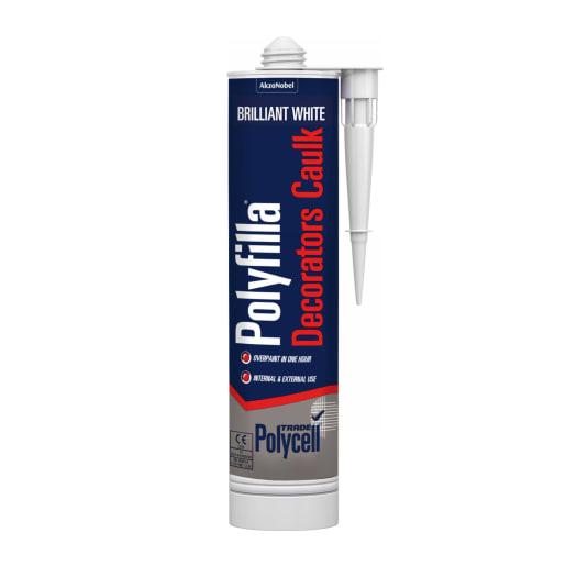 Polycell Polyfilla Decor Caulk 380ml Brilliant White