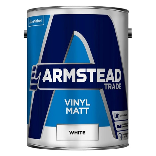 Armstead Trade Vinyl Matt Paint 5.0L White