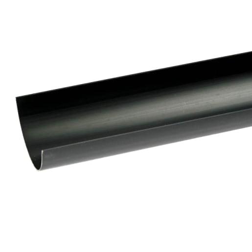Polypipe Half Round Gutter 4m Black