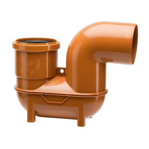 Polypipe Drain Lowback P Trap 110mm Brown