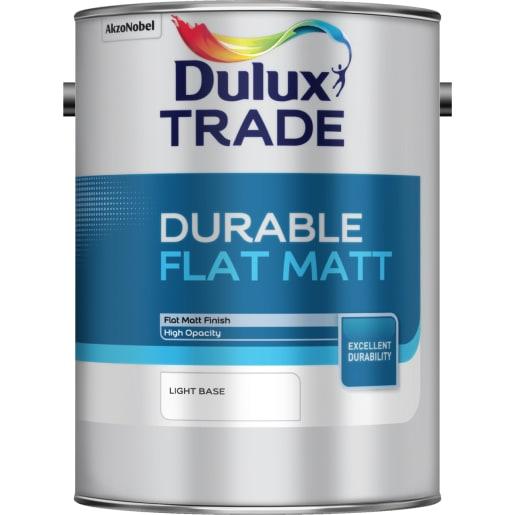 Dulux Trade Durable Flat Matt Paint 5L Light Base