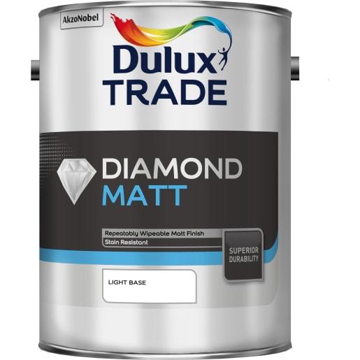 Dulux Trade Diamond Matt Paint 5L Light Base