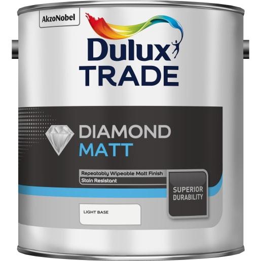 Dulux Trade Diamond Matt Paint 2.5L Light Base