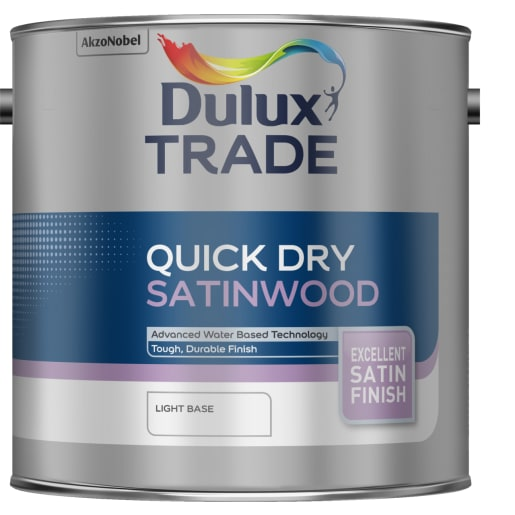Dulux Trade Quick Dry Satinwood Paint 2.5L Light Base