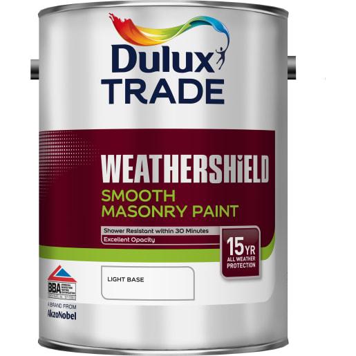Dulux Trade Weathershield Masonry Paint 5L Light Base