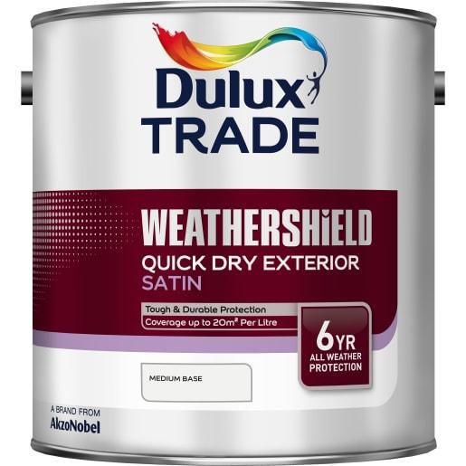 Dulux Trade Weathershield Exterior Satin Paint 2.5L Medium Base