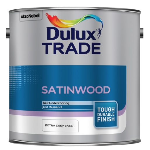 Dulux Trade Satinwood Paint 2.5L Extra Deep Base