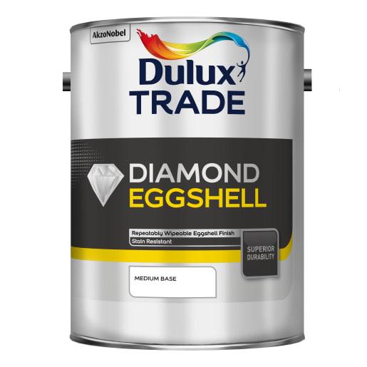 Dulux Trade Diamond Eggshell Paint 5L Medium Base