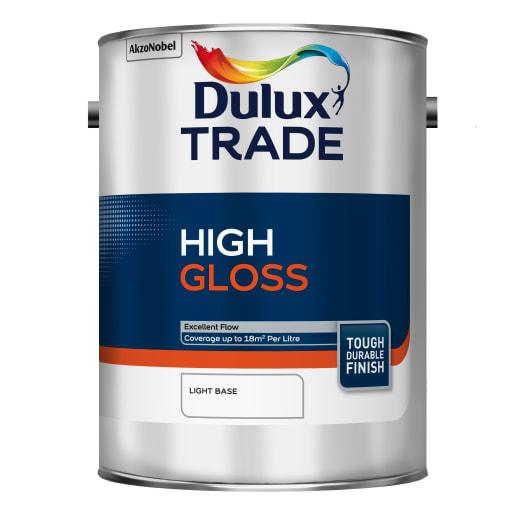 Dulux Trade High Gloss Paint 5L Light Base