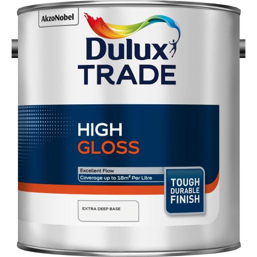 Dulux Trade High Gloss Paint 2.5L Extra Deep Base